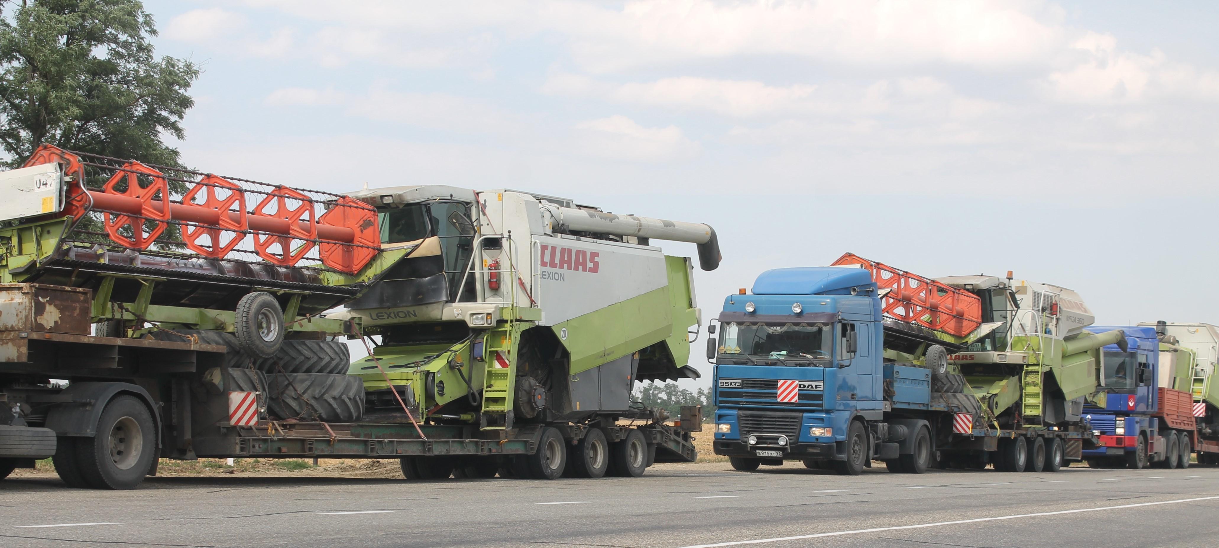 услуги по перевозке комбайнов